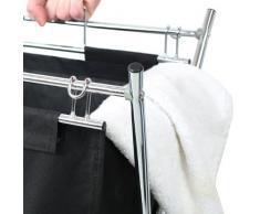 Premier Housewares - Cesto para colada con estructura cromada
