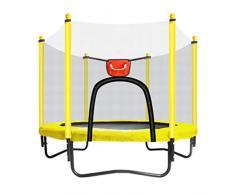 TrampolíN Interior para NiñOs - Mini TrampolíN - con Escudo De Seguridad - con Canasta De Baloncesto - TrampolíN De JardíN - Puede Soportar 150 Kg