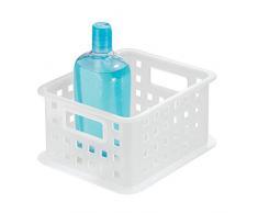 InterDesign - Canasto organizador para almacenamiento, para el cuarto de baño, organiza productos de belleza y para el cuidado de la salud, toallones, chico, glaseado