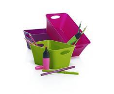 Rotho Living - Caja de almacenaje, polipropileno, verde, 5 L