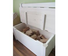 Niños banco asiento infantil banco de madera banco baúl de madera blanco