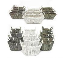 Cuenco oval cesta de mimbre de roble Natural de la cocina frutas huevo almacenamiento Navidad Xmas Gift Hamper pantalla rectangular, Medium (R) 33x24x18cm