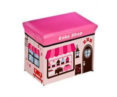 Premier Housewares - Asiento con caja de almacenaje, diseño de tren, de pastelería y de camión de bomberos