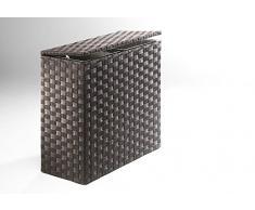 Rattan im Trend - Cesto para ropa (nailon, 2 compartimentos)