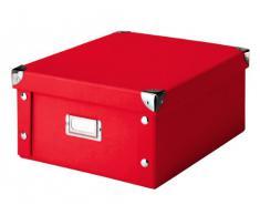Zeller 17917 Caja de almacenaje de cartón Rojo (Rot) 31 x 26 x 14 cm