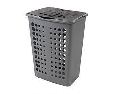 CURVER Cesta de lavadero 2045104 Victor Plástico Plata/Antracita 60 L