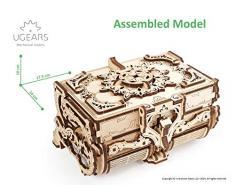 UGEARS Cofrecito De Época Modelo mecánico - Puzzle 3D Rompecabezas Adultos - Caja de Tesoro de Madera - Cofre del Tesoros - Vintage Cajas de Madera Maquetas para Construir Adultos y Adolescentes