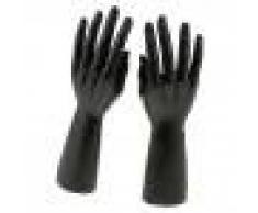 Almencla 1 Par 12 Pulgadas Macho Derecho Izquierdo Maniquí Joyas De Mano Pulsera Anillo Soporte De Exhibición Organizador Hold - Negro