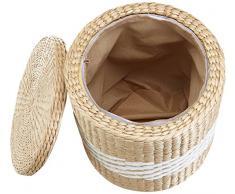 büloo cesta de ropa de asiento taburete almacenamiento cesta baúl de de caja con tapa , 2 piezas