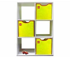 Neat-Oh! A1805XX - Caja de almacenamiento para lego, color amarillo