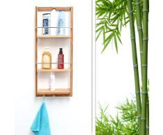 Relaxdays Estantería para Ducha, bambú, Marrón