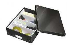 Leitz Caja Organizadora, Gama Click and Store 60580095 - Mediana, Negro