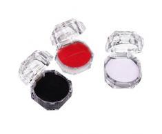 Emorias 1 Pcs Caja de Cristal Joyero Transparente Joyeria Soporte de Exhibición Anillo Colgante Almacenamiento Bisuteria Accesorios - Blanco