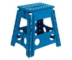 Taburete plegable Arregui - color azul y blanco