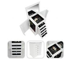 Mueble de almacenamiento para joyas con cajones y espejo integrado - Diseño de Peluquera
