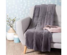 Maisons du monde Manta suave gris pizarra 150 x 230 cm CHALEUR