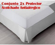 Pikolin Conjunto de 2 Protectores de Colchón Acolchados Antialérgicos PA29 de Pikolin Home