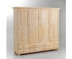 La Redoute Interieurs Armario de pino macizo con perchero y baldas, Harold beige