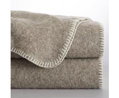 La Redoute Interieurs Manta 100% lana naturalmente coloreada, Romu beige