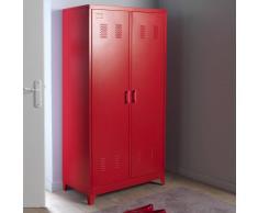 La Redoute Interieurs Armario ropero, metal, 2 puertas, Hiba rojo