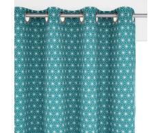 La Redoute Interieurs Cortina 100% algodón con ojales LOZANGE azul