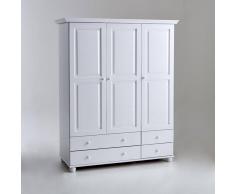 La Redoute Interieurs Armario de pino macizo con perchero y baldas, Harold blanco