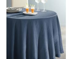 La Redoute Interieurs Mantel redondo de poliéster arrugado CERYAS azul