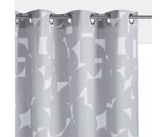 La Redoute Interieurs Cortina 100% algodón con ojales ARON gris