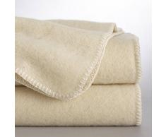 La Redoute Interieurs Manta 100% lana naturalmente coloreada, Romu blanco