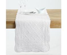 SCENARIO Camino de mesa 100% algodón blanco
