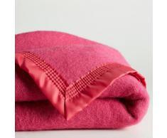 La Redoute Interieurs Manta 350 gr/m² pura lana virgen Woolmark rosa