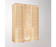 La Redoute Interieurs Armario de pino macizo Mayor, Al. 205 cm beige