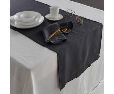 AM.PM. Camino de mesa de lino lavado Taraka gris