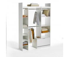 LES PETITS PRIX Armario ropero modular con 2 columnas y 2 colgadores Yann blanco