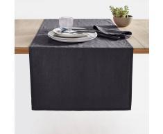 La Redoute Interieurs Camino de mesa Victorine, lino lavado negro