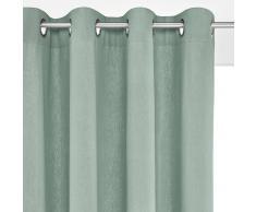 La Redoute Interieurs Cortina de lino/algodón con ojales, TAÏMA azul