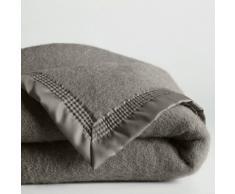 La Redoute Interieurs Manta 600 g/m² pura lana virgen Woolmark gris