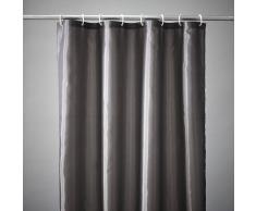 SCENARIO Cortina de ducha lisa 8 colores, Scénario gris