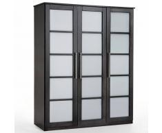 La Redoute Interieurs Armario ropero 3 puertas, pino, altura 180 cm, Bolton marrón