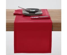 SCENARIO Camino de mesa liso de poliéster rojo
