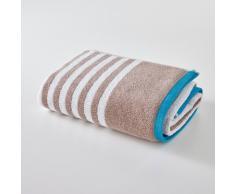 SCENARIO Toalla de baño maxi a rayas 500 g/m² beige