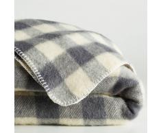 La Redoute Interieurs Manta a cuadros de lana, ROMU gris