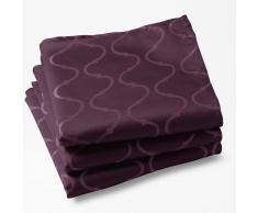 La Redoute Interieurs Lote de 3 manteles individuales Salomé, adamascado. violeta