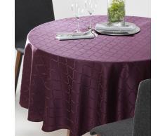 La Redoute Interieurs Mantel redondo de jacquard adamascado SALOMÉ violeta