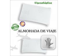 SABANALIA Almohada de viaje viscoelástica Aloe Vera