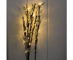 Kaemingk Set de 2 ramas de luz de BAYAS LED blanco cálido