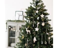Kaemingk Árbol de Navidad AVETO LED blanco cálido 1,8 metros