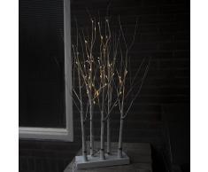 Kaemingk Árbol de Navidad arbusto de ABEDUL LED blanco cálido 0,9 metros