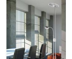 Leuchten Direct Lámpara de pie moderna y recta con brazo de lectura con LED - ADRIAN