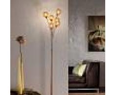 Paul Neuhaus Lámpara de pie rústica óxido 6 luces - KRETA